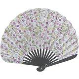 日本和風手拿扇子◇涼風御扇子◇《白底彩花圖案》