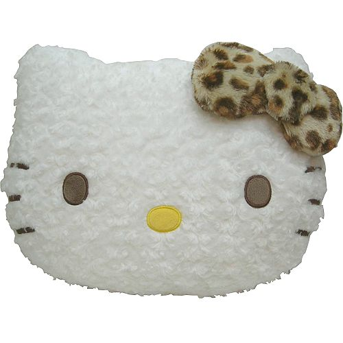 【波克貓哈日網】Hello kitty 凱蒂貓◇造型抱枕◇《白色捲毛》