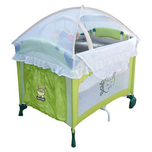 BabyBabe 拱型遊戲床/全配款(綠色)