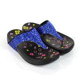 【Pretty】若梵妮 德國PU環保素材夾腳健走鞋-藍色