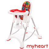 【myheart】 折疊式兒童安全餐椅 - 卡通紅