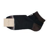 TRUSSARDI 休閒雙色毛巾底短襪-深藍