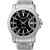 SEIKO Premier 紳士萬年曆腕錶-黑x銀 6A32-00X0D