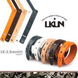 【韓國原裝潮牌 LKUN】潮流真皮手環 100%牛皮製作 個性多色可挑選 LK-2 滑面款 韓國正品空運