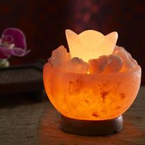 【Naluxe】義大利設計水晶鹽燈-聚寶盆特價品(加贈小元寶1入)