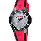 Timberland 潮流美式時尚腕錶-銀x紅 TBL.14323MSUB/04