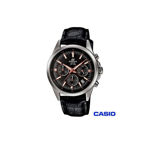 【CASIO卡西歐】賽車三眼計時腕錶 EFR-527D-1A