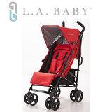 【嬰兒推車L.A. Baby 美國加州貝比】時尚輕便嬰兒手推車(紅色)