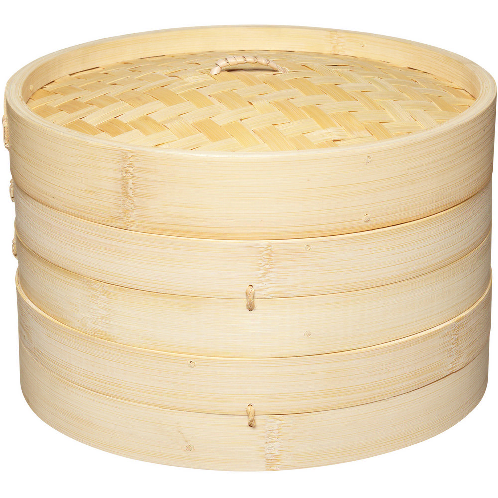 ~KitchenCraft~雙層竹編蒸籠 25.5cm