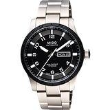 MIDO Multifort 先鋒系列【鈦】時尚機械腕錶-黑x銀 M0184304405200