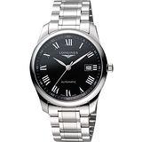 LONGINES Master 巨擘系列羅馬機械腕錶-黑 L27934516