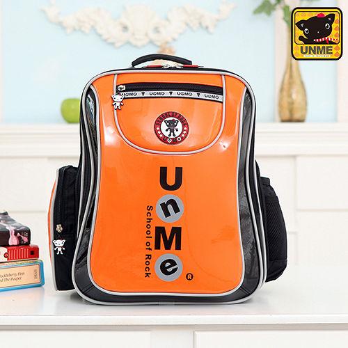 【UNME】中高年級 低調LOGO護脊書包(橘色3234)