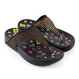 【Pretty】若梵妮 德國PU環保素材夾腳健走鞋-桃紅、金色