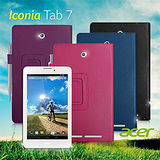 ACER Iconia Tab 7 / A1-713 支架磁扣荔枝紋 書本式保護套 皮套