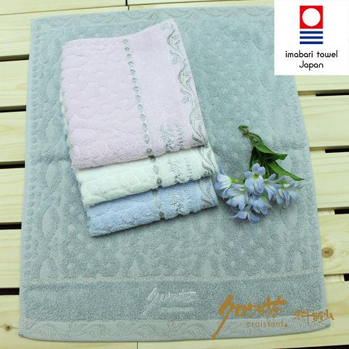 【クロワッサン科羅沙】日本毛巾~今治生產 抗菌菱紋 方巾
