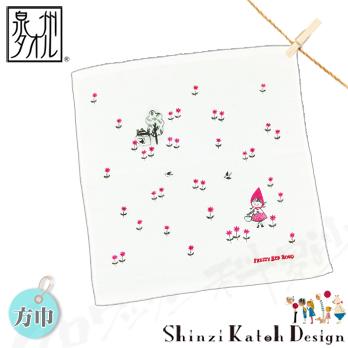 【クロワッサン科羅沙】日本毛巾~加藤真治童話故事系列~小紅帽方巾 34*35CM