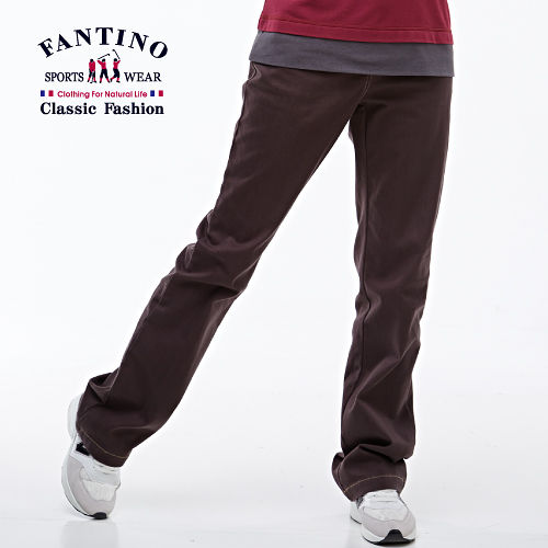 【FANTINO】法式修身長褲(咖啡)383106