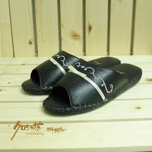 【クロワッサン科羅沙】手工限量室內鞋 TI 柳葉皮拖 黑色 28CM