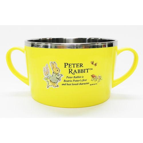 【クロワッサン科羅沙】Peter Rabbit~ 經典比得兔不銹鋼杯碗 黃021408