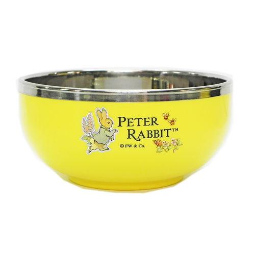 【クロワッサン科羅沙】Peter Rabbit~ 經典比得兔不銹鋼碗(S) 黃021354