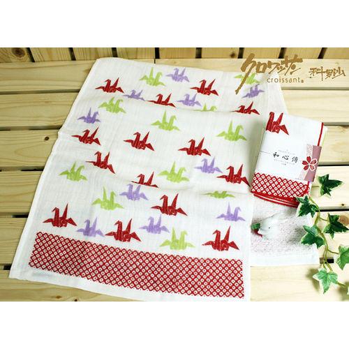 【クロワッサン科羅沙】日本毛巾~和心傳 折鶴毛巾 31*81cm