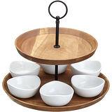 《Master》雙層點心盤+六瓷碗