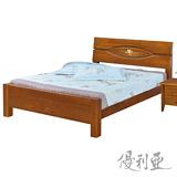 【優利亞-田園卡洛】雙人5尺實木床架