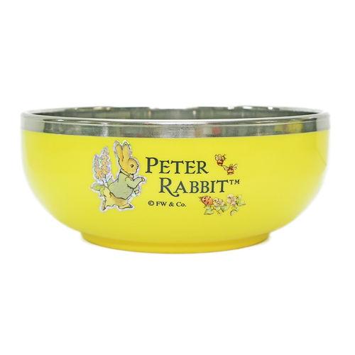 【クロワッサン科羅沙】Peter Rabbit~ 經典比得兔不銹鋼碗(L) 黃021361