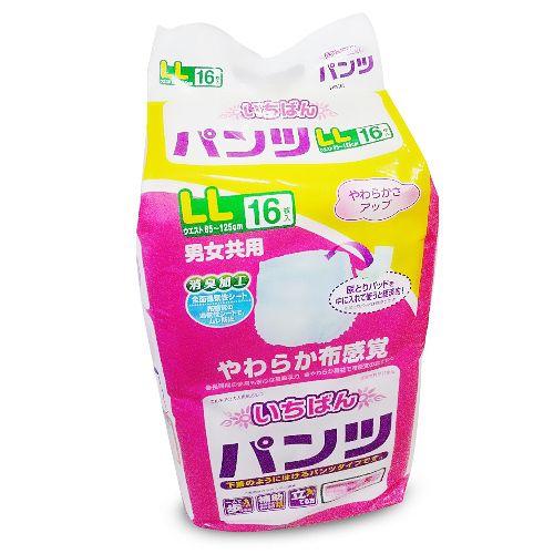 日本一番 LL成人復健褲 16片/4包/箱 (整箱出貨)