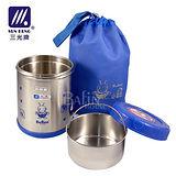 【三光牌】台灣製 溫心不銹鋼真空保溫飯盒/食物罐-0.7L(M-700B)