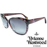 Vivienne Westwood 英國薇薇安魏斯伍德大理石紋面土星太陽眼鏡(紅) VW85903