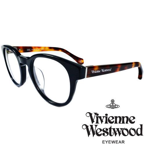 Vivienne Westwood 英國薇薇安魏斯伍德經典LOGO復古圓框光學眼鏡(紅琥珀) VW86102