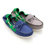 【GREEN PHOENIX】撞色拼接鬆緊進口牛皮莫卡辛鞋
