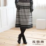 【麥雪爾】都會時尚~精選雙滾花瓣邊壓摺視覺美八分裙-共兩色