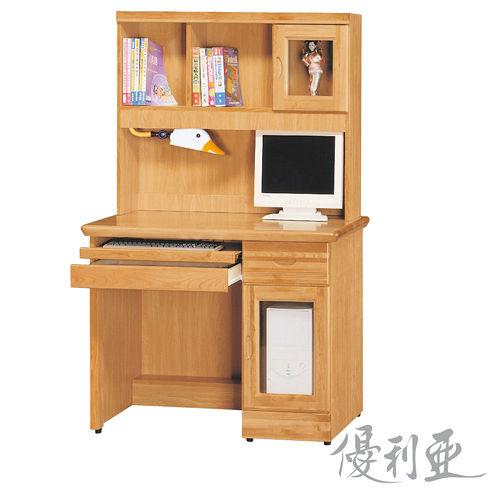 【優利亞-羅克赤陽色】3.5尺電腦書桌(全組)