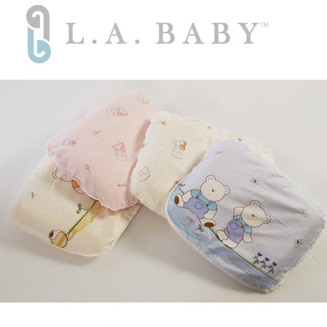 【美國 L.A. Baby】天然乳膠朔型枕(藍色/粉色/黃色/)