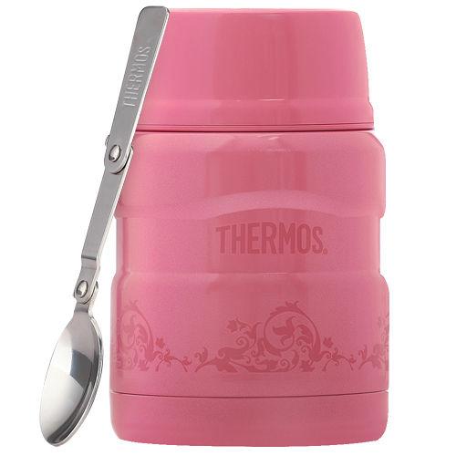 THERMOS膳魔師 不鏽鋼真空保溫悶燒罐/食物罐470ml-紅莓歐蕾(SK3000)