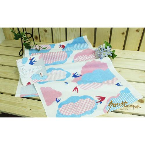 【クロワッサン科羅沙】日本毛巾~Japanese style 藍飛燕 毛巾 34*90CM