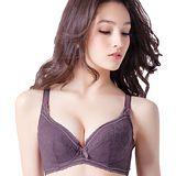 【思薇爾】舒棉Bra系列D-G全罩軟鋼圈內衣(紫褐色)