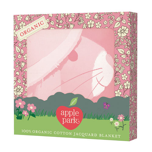 【美國 Apple Park】 有機棉透氣輕量毯 - 長耳兔