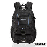 AOKANA奧卡納 台灣扣具 輕量防潑水護脊紓壓機能後背包68-074(藍/黑)