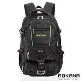 AOKANA奧卡納 台灣扣具 輕量防潑水護脊紓壓機能後背包68-074(綠/黑)