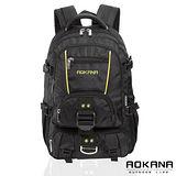 AOKANA奧卡納 台灣扣具 輕量防潑水護脊紓壓機能後背包68-074(黃/黑)