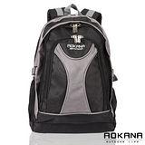 【AOKANA奧卡納】休閒電腦後背包(黑-68-045)