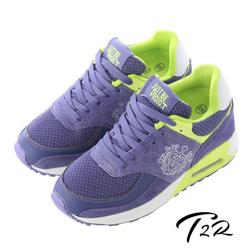 【韓國T2R】NEW皇家限定雙氣墊增高鞋9CM 紫藍 (5600-0132)