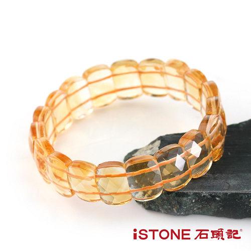 石頭記 典藏切刻版型黃水晶手鍊