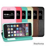 【Roarkorea】Apple iPhone 6 開框隱藏磁扣式時尚翻頁質感皮套