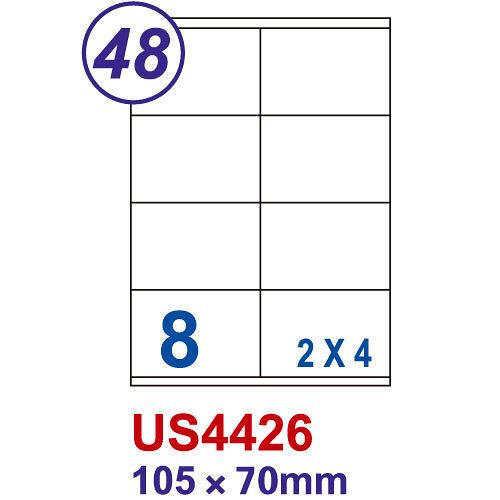 【Unistar 裕德 8格 電腦標籤】 US4426 105×70mm (100張/盒)