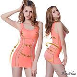 【Naya Nina】雙弧推塑․加強纖腰長版寬肩塑身衣M-XXL(粉)
