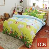 《DON 森林王國》雙人四件式蜜絲絨全舖棉兩用被床包組